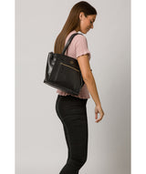 'Ashbourne' Vintage Black Leather Handbag image 2