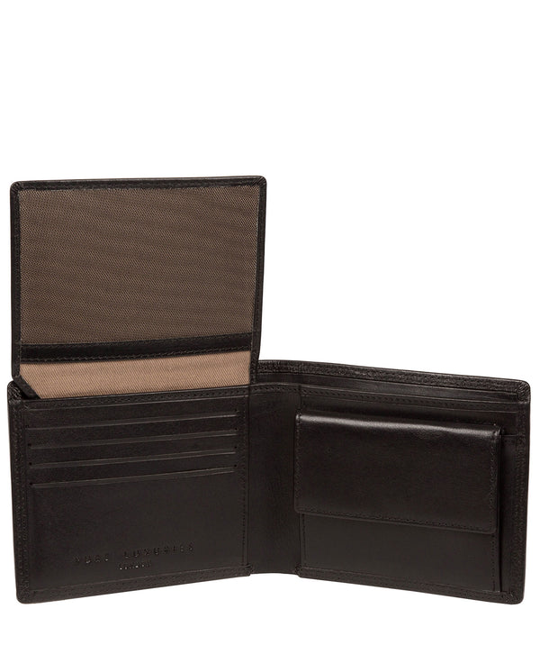 'Williams' Black Leather Wallet image 2