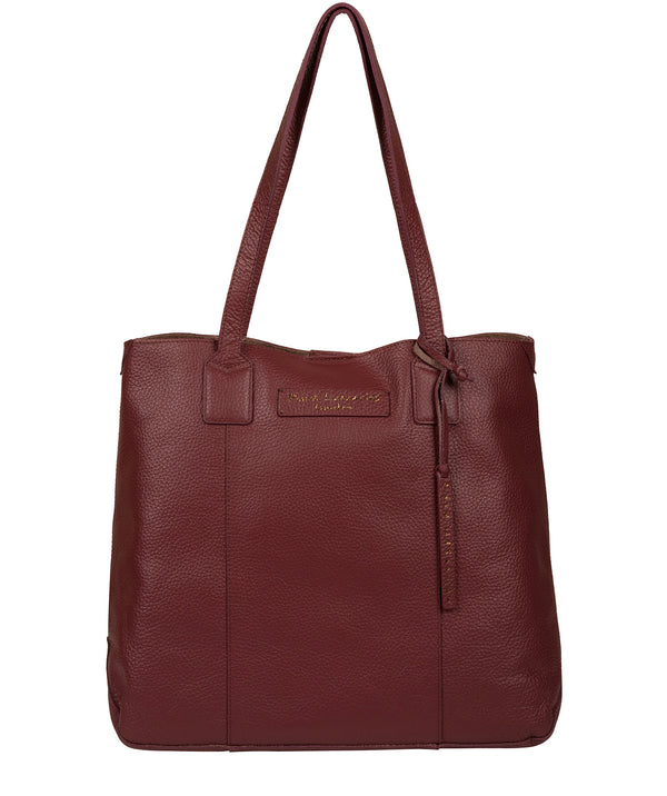 'Ruxley' Burgundy Leather Tote Bag image 1