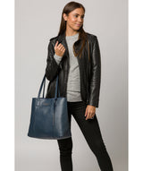 'Ruxley' Denim Leather Tote Bag image 2
