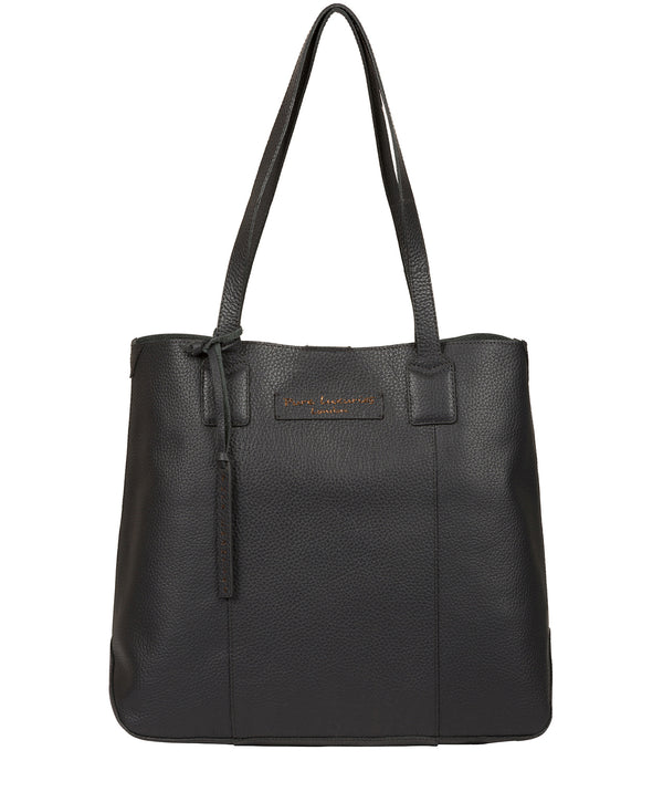 'Ruxley' Slate Leather Tote Bag image 1