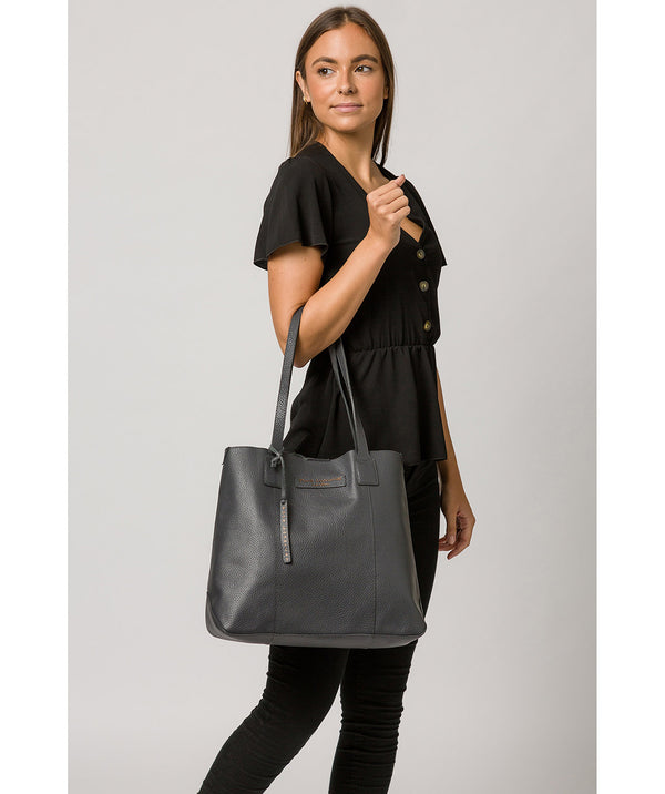 'Ruxley' Slate Leather Tote Bag image 2