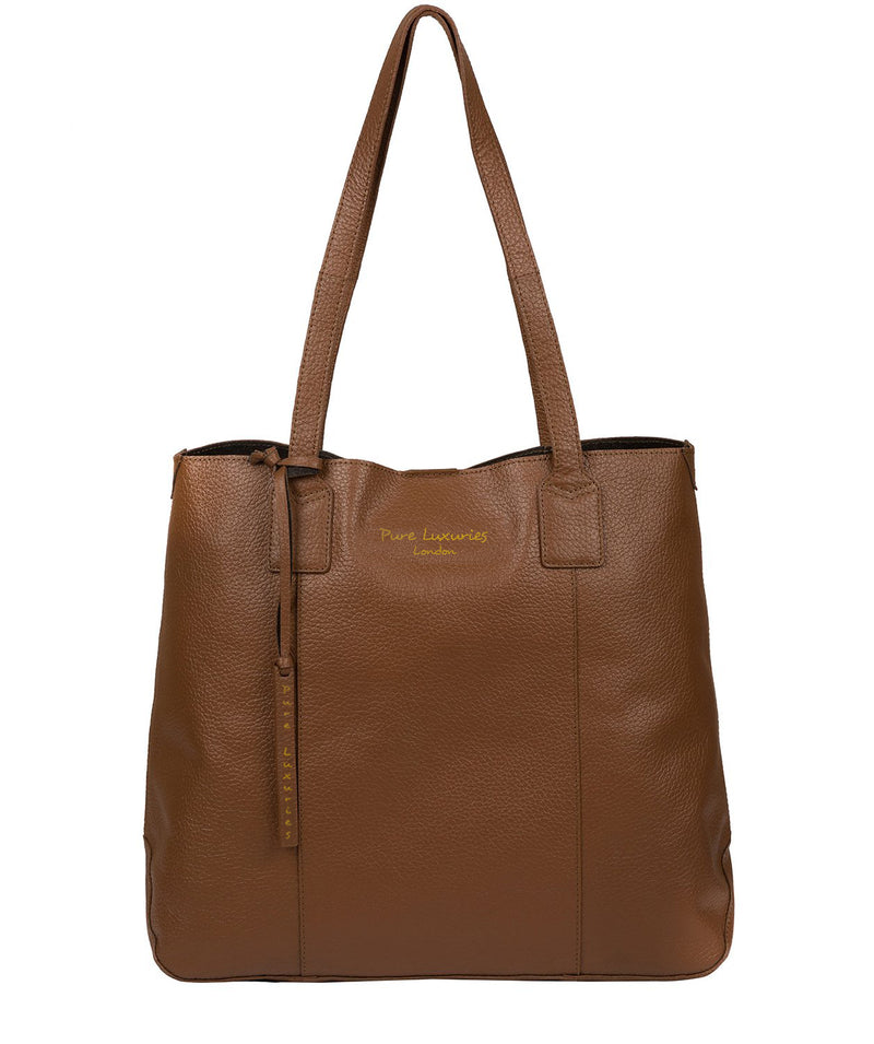 'Ruxley' Tan Leather Tote Bag image 1