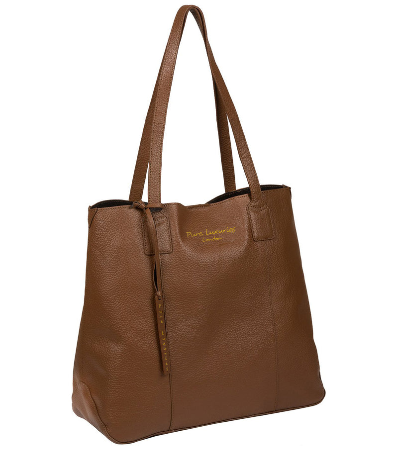 'Ruxley' Tan Leather Tote Bag image 5