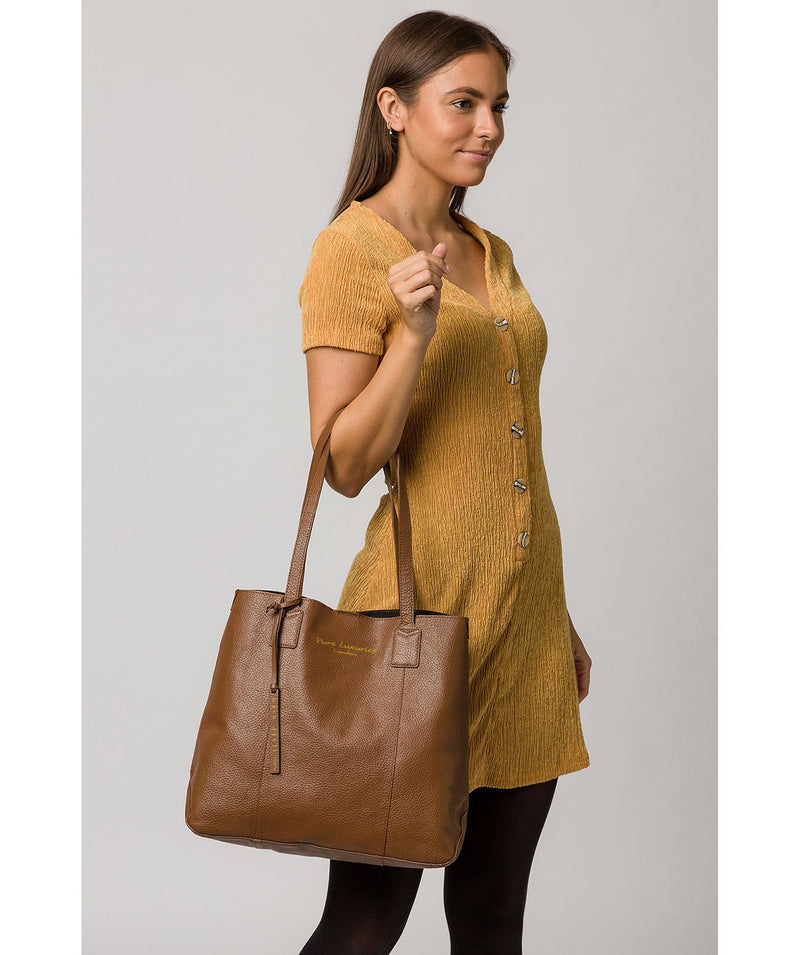 'Ruxley' Tan Leather Tote Bag image 2