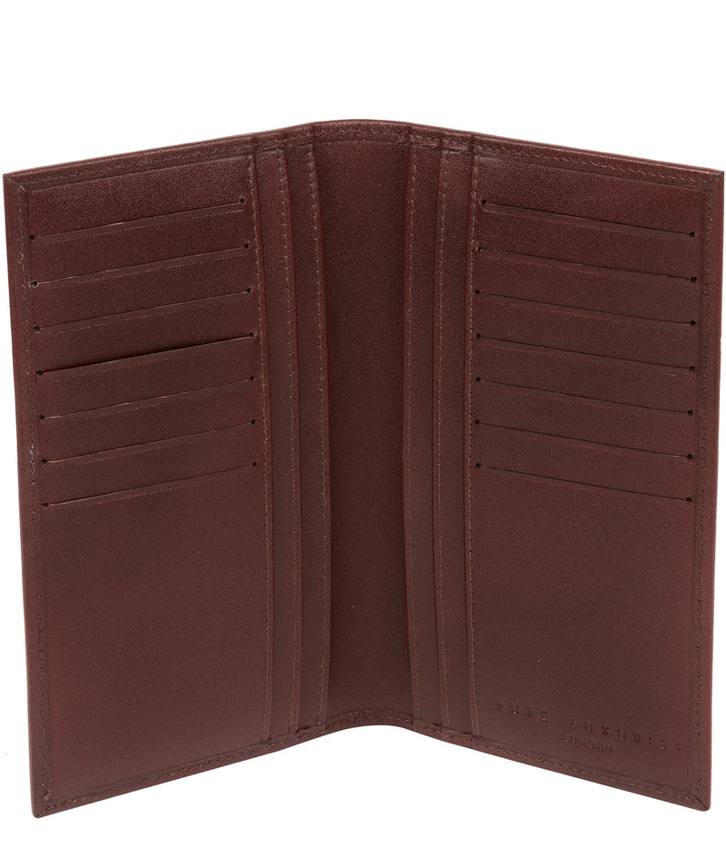 'Gregan' Brown Leather Breast Pocket Wallet Pure Luxuries London