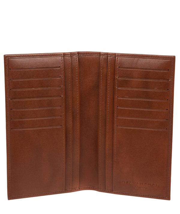 'Gregan' Tan Leather Breast Pocket Wallet image 2