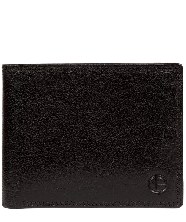 'North' Black Leather Wallet image 1