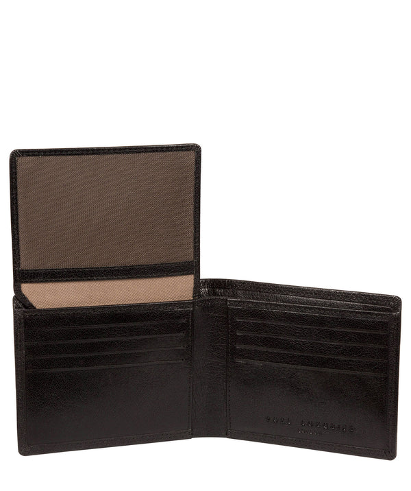 'North' Black Leather Wallet image 2