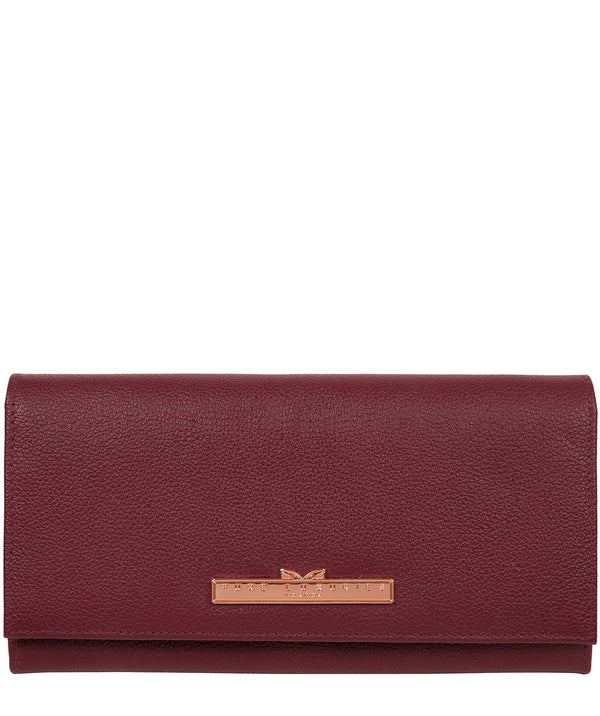 'Winslett' Pomegranate Leather Purse Pure Luxuries London