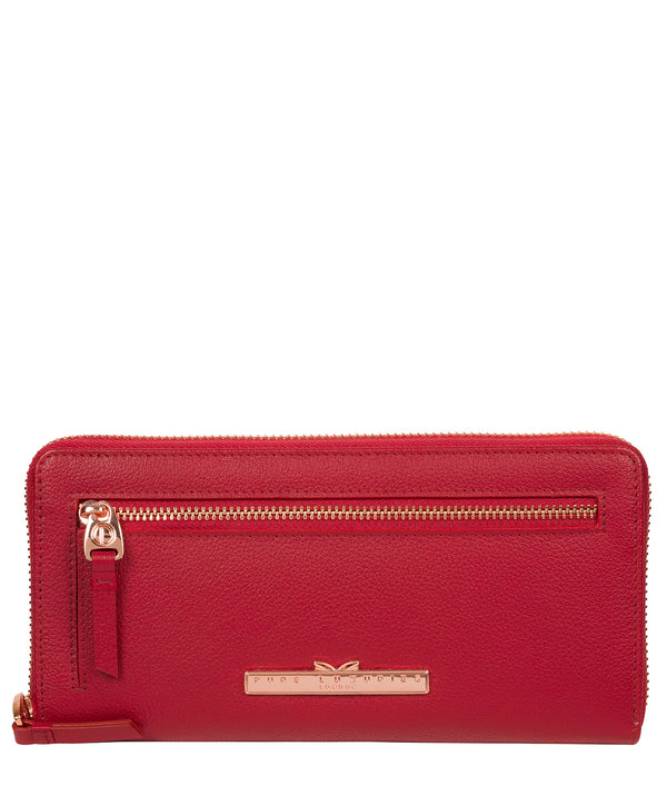 'Knightley' Cherry Leather Purse image 1