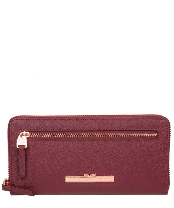 'Knightley' Pomegranate Leather Purse image 1
