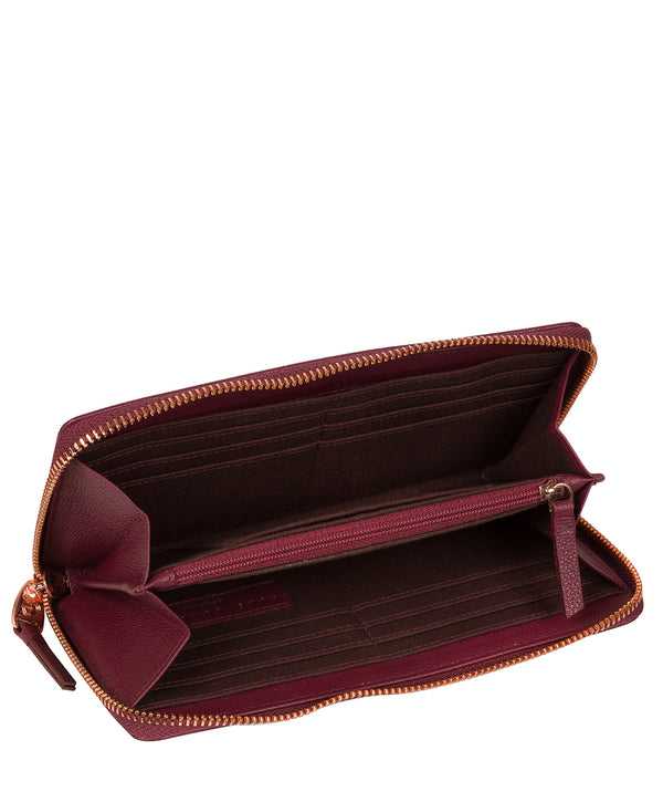 'Knightley' Pomegranate Leather Purse image 2