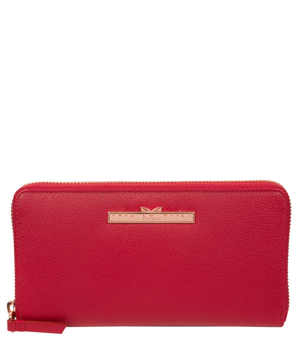 'Nardini' Cherry Leather Purse image 1