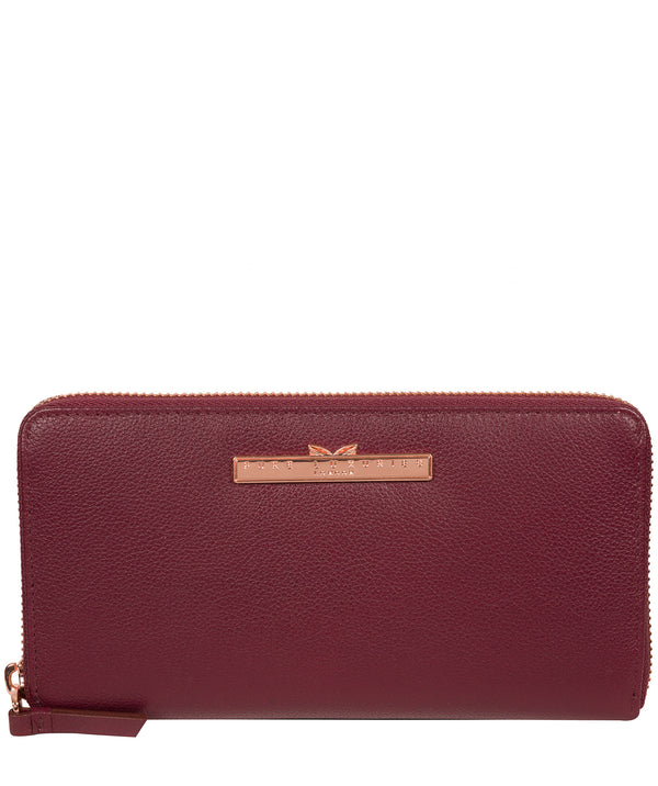 'Nardini' Pomegranate Leather Purse Pure Luxuries London