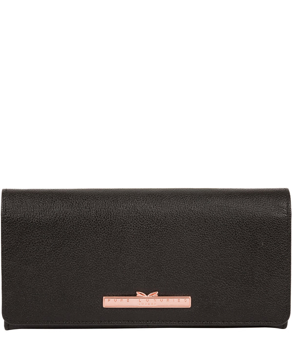 'Arterton' Black Leather Purse image 1