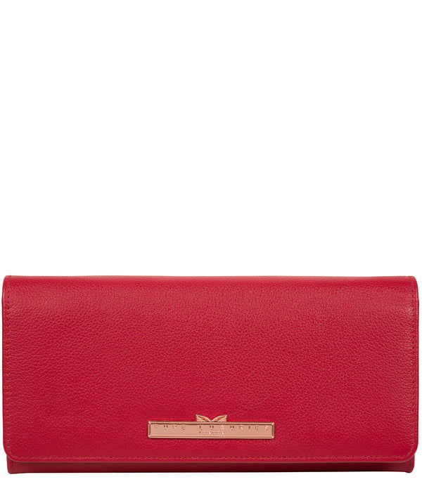 'Arterton' Cherry Leather Purse image 1
