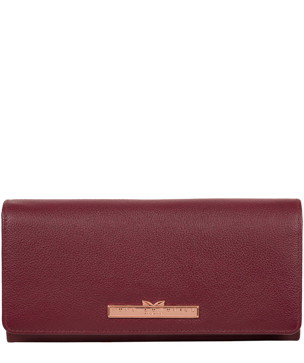 'Arterton' Pomegranate Leather Purse Pure Luxuries London