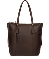 'Aldgate' Hickory Leather Tote Bag image 1