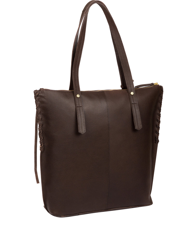'Aldgate' Hickory Leather Tote Bag image 3