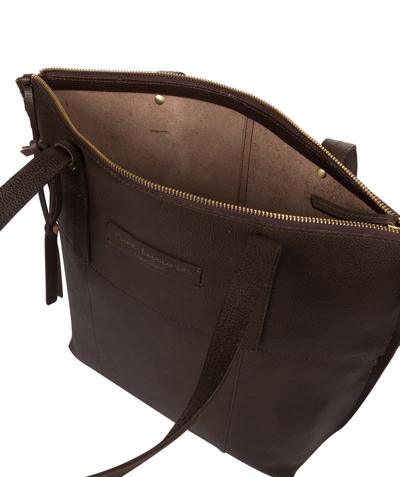 'Aldgate' Hickory Leather Tote Bag image 4