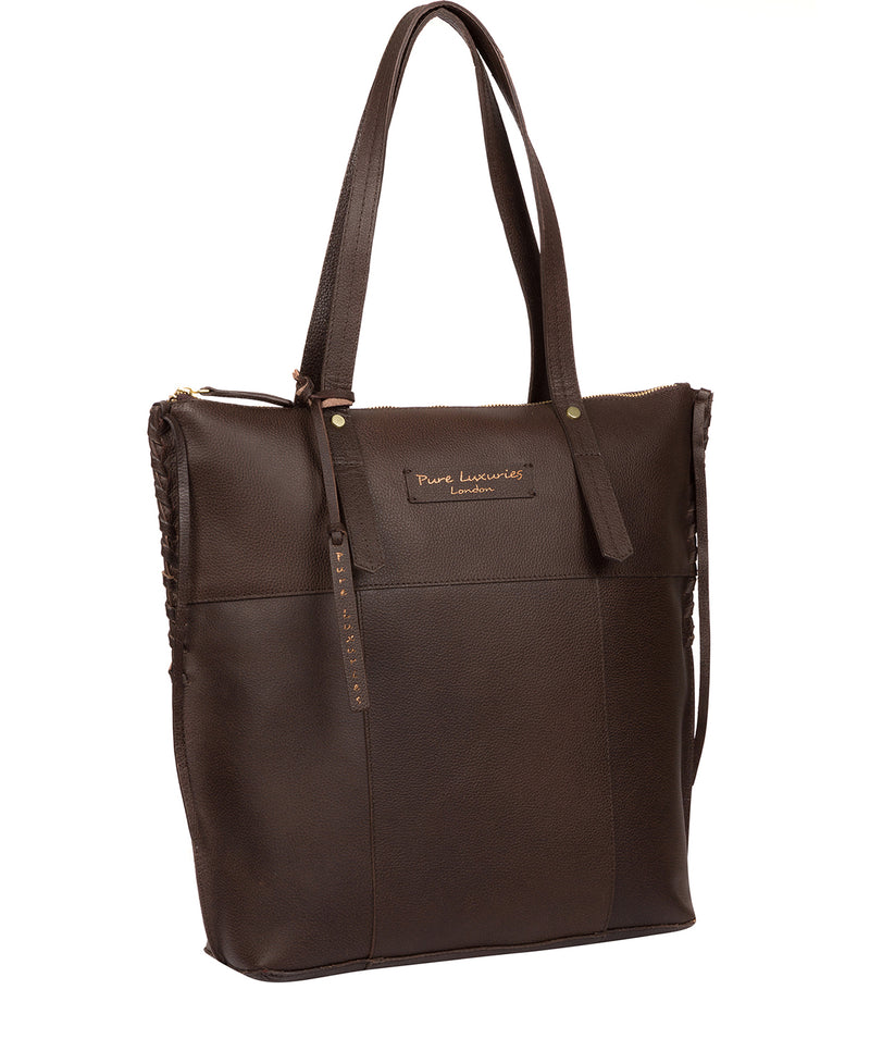 'Aldgate' Hickory Leather Tote Bag image 5