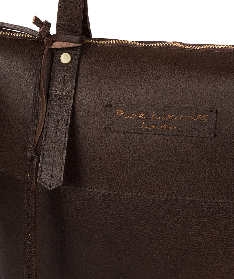 'Aldgate' Hickory Leather Tote Bag image 6