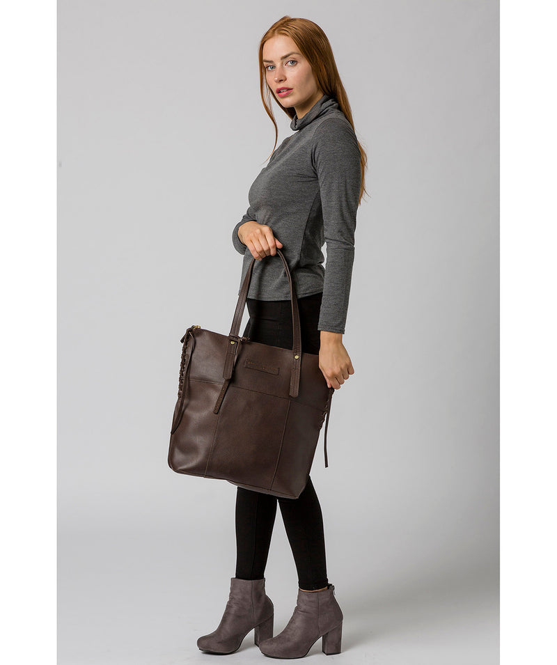 'Aldgate' Hickory Leather Tote Bag image 2