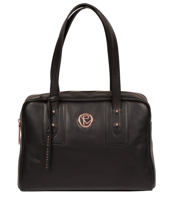 'Madox' Black Leather Handbag image 1