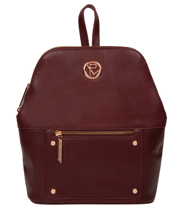 'Rubens' Burgundy Leather Backpack image 1