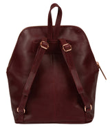 'Rubens' Burgundy Leather Backpack image 3