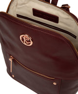 'Rubens' Burgundy Leather Backpack image 4