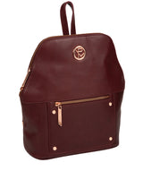 'Rubens' Burgundy Leather Backpack image 5