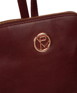 'Rubens' Burgundy Leather Backpack image 6
