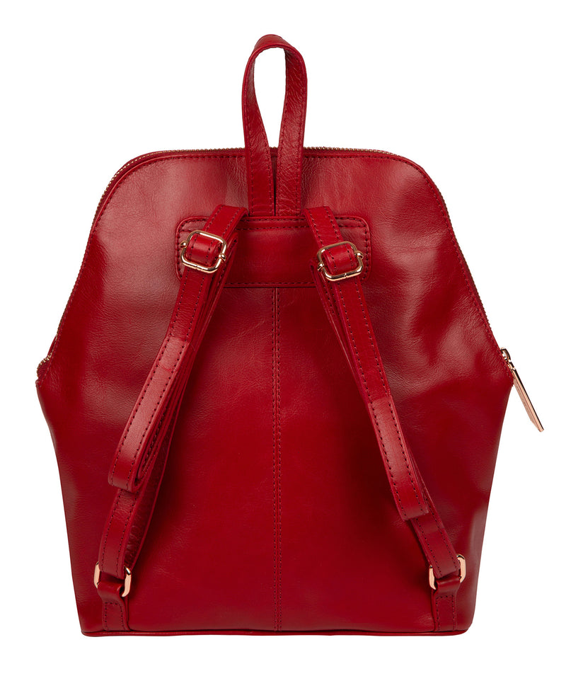 'Rubens' Cherry Leather Backpack image 3