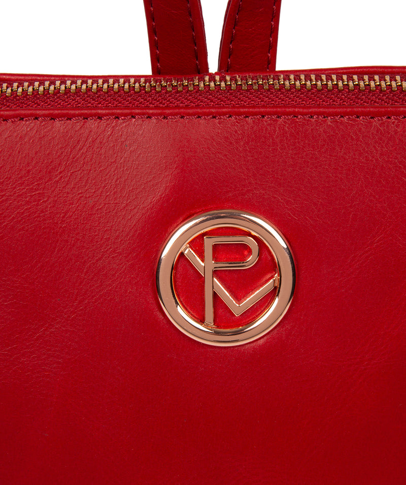 'Rubens' Cherry Leather Backpack image 6