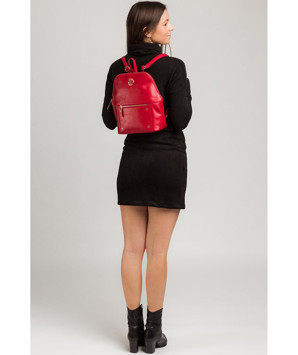 'Rubens' Cherry Leather Backpack image 2