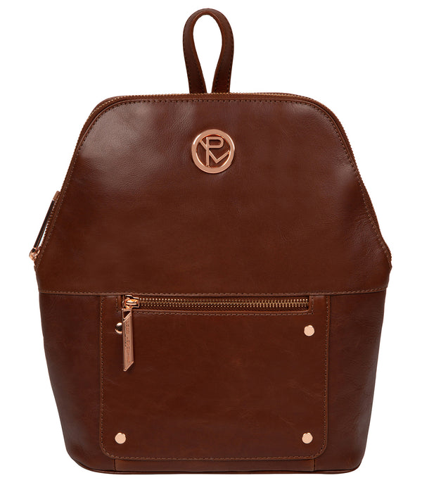 'Rubens' Cognac Leather Backpack image 1