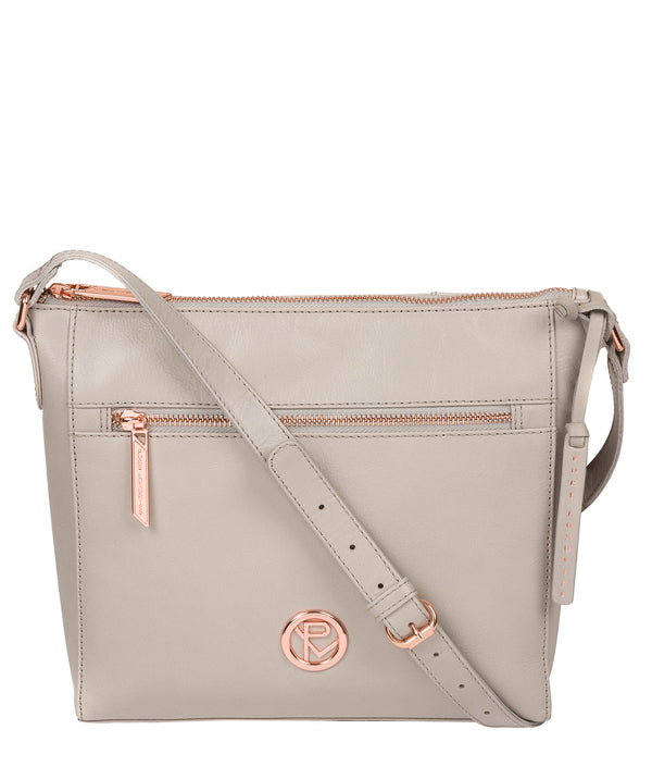 'Byrne' Grey Leather Cross Body Bag image 1