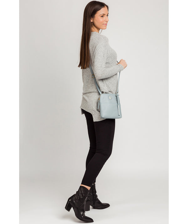 'Orsola' Cashmere Blue Leather Cross Body Bag image 2