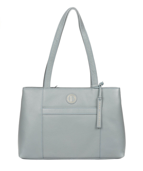 'Mist' Cashmere Blue Leather Handbag image 1