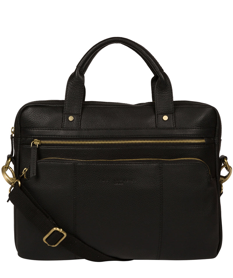 'Athenia' Black Leather Workbag  image 1