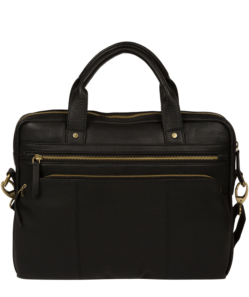 'Athenia' Black Leather Workbag  image 3