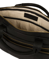 'Athenia' Black Leather Workbag  image 4