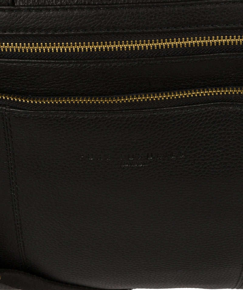 'Athenia' Black Leather Workbag  image 6