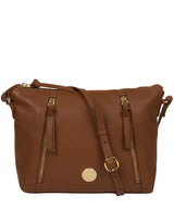 'Yoshi' Tan Leather Cross Body Bag image 1