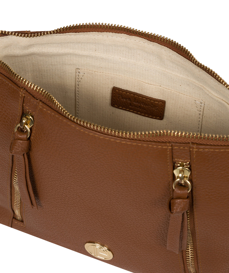 'Yoshi' Tan Leather Cross Body Bag image 4