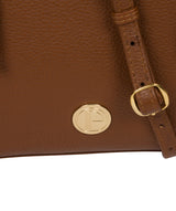 'Yoshi' Tan Leather Cross Body Bag image 6