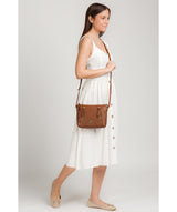 'Yoshi' Tan Leather Cross Body Bag image 2