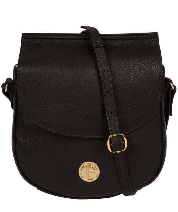 'Toto' Black Leather Cross Body Bag image 1